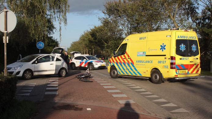 De ambulance ter plaatse.