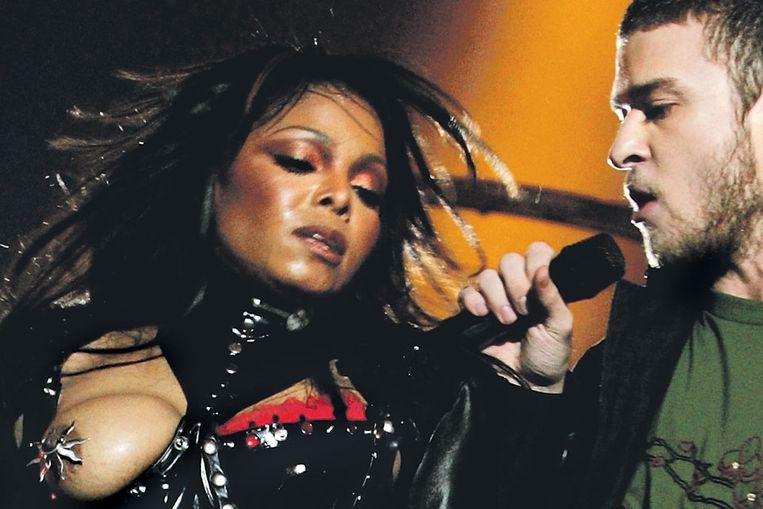 De beroemde 'nipple gate', met Janet Jackson en Justin Timberlake (Reuters) Beeld