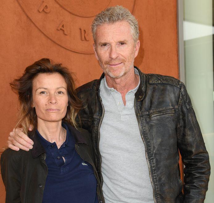 Denis Brogniart et sa femme Hortense à Roland Garros en 2019.