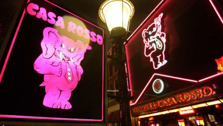 Het roemruchte sekstheater Casa Rosso op de Amsterdamse Wallen. Foto ANP Beeld