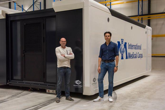 Michiel Becx en Martijn Gevers (rechts) van Expandable Healthcare.
