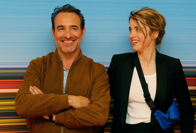 """Jean Dujardin et Adèle Haenel pour """"Le Daim"""" présenté à Cannes dans la sélection """"La Quinzaine des réalisateurs""""."""