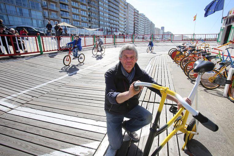 Thierry Monballiu aan zijn Velodroom.