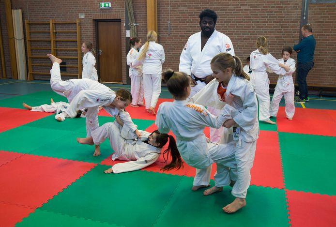 De leerlingen van De Overlaat  in Tolkamerin de weer met judo.