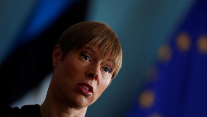 Kersti Kaljulaid, présidente de la République d'Estonie.