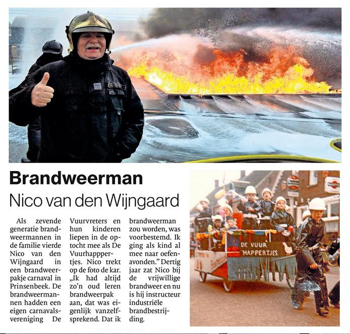 Brandweerman Nico van den Wijngaard