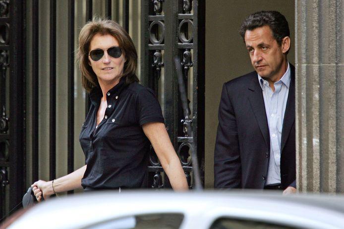 Cécilia et Nicolas Sarkozy lors de la campagne présidentielle en avril 2007. Le couple divorcera quelques mois plus tard.