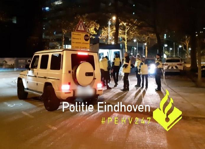 Verkeerscontroles in Eindhoven.