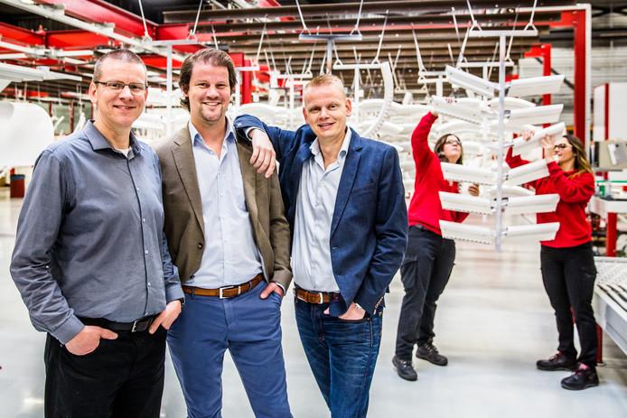 Otolift Trapliften: vlnr broers Jan Otto,  Andre  en Alex Ooms