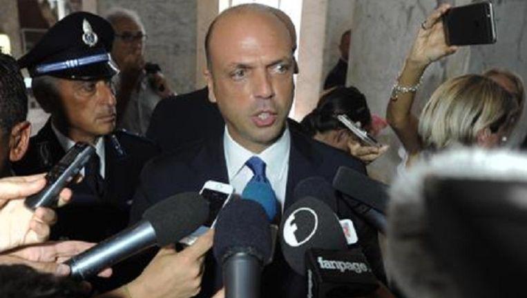 De Italiaanse minister van Binnenlandse Zaken Angelino Alfano Beeld EPA