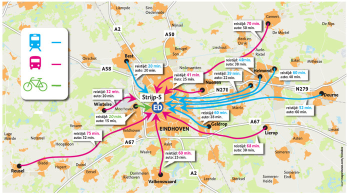 Alternatieve routes woon- en werkverkeer