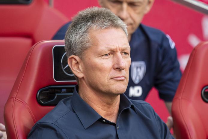 Frank Wormuth zag zijn ploeg donderdagmiddag met 1- 0 verliezen van Duisburg.
