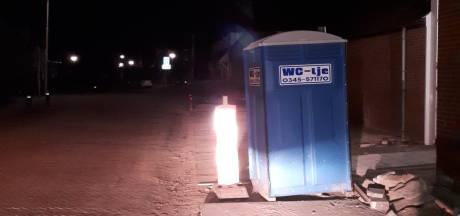 Vandalen moeten omgegooide wc zelf weer oprapen; politie stond ernaast