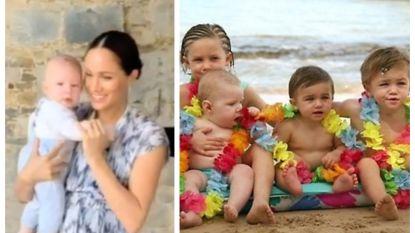 SHOWBITS. Baby Archie steelt alle harten en herken jij al deze kinderen?