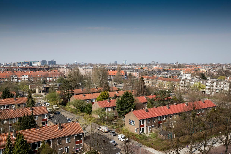 Panden van woningcorporatie Ymere in de Rudolf Dieselstraat.