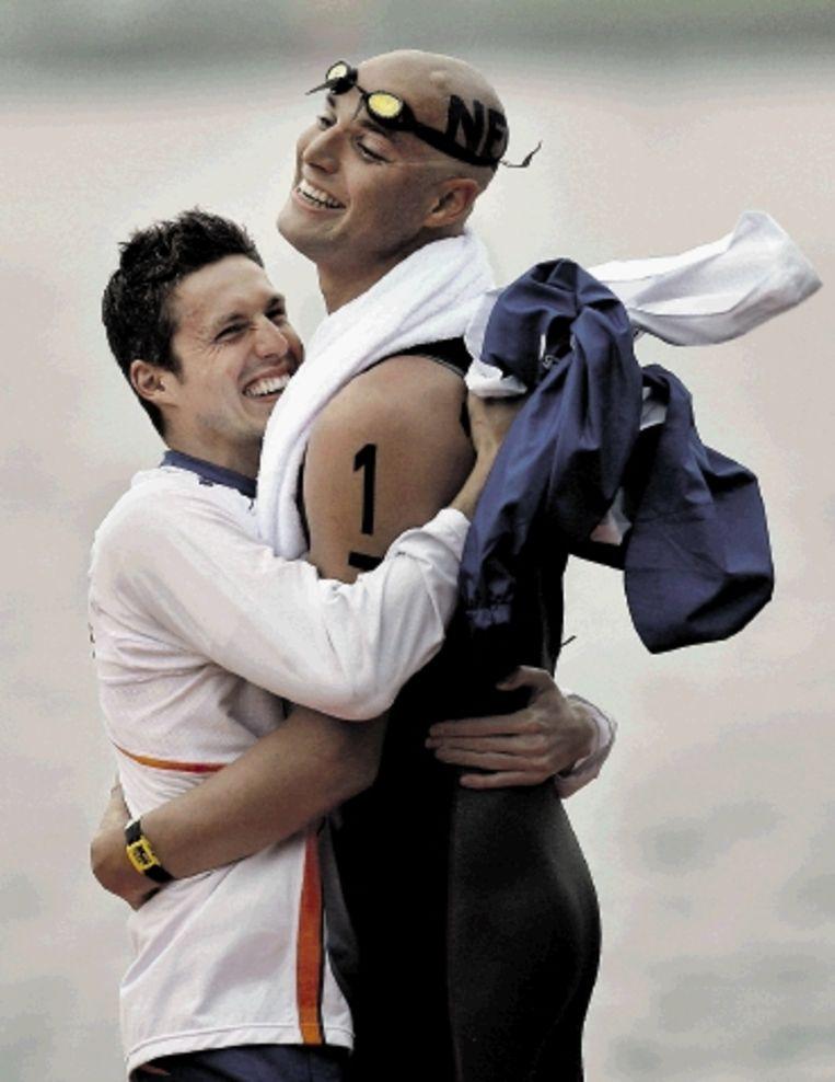 Zwemmer Maarten van der Weijden wordt Nederlands sportman van het jaar. ( FOTO ANP) Beeld