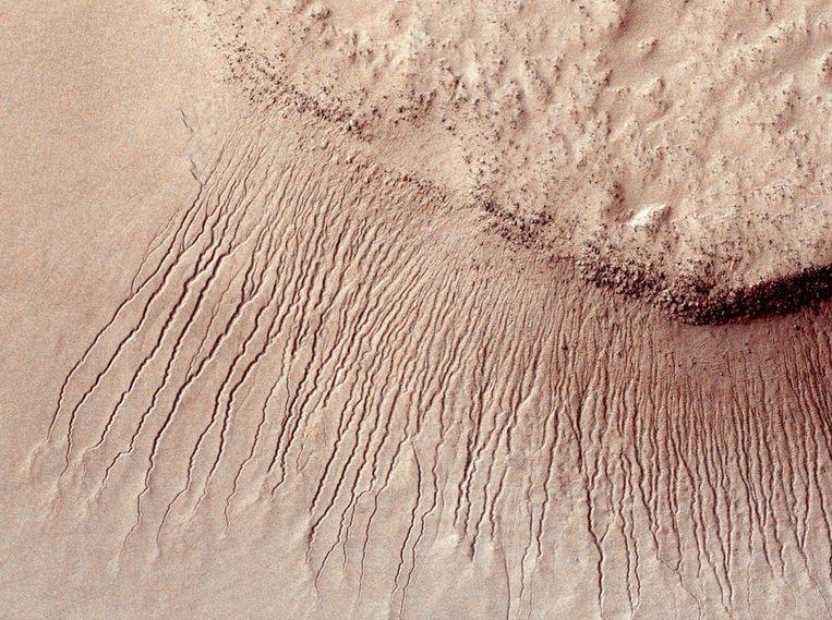 Het oppervlak van Mars. Beeld Photo News