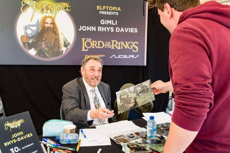 Acteur John Rhys-Davies kwam handtekeningen uitdelen.