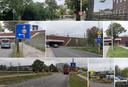 Bebording voor het lage viaduct van De Oversteek en de Weurtseweg in Nijmegen.