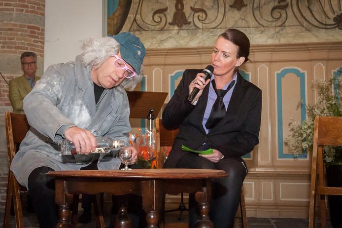 Optreden van toneelvereniging De Rederijkers in Tholen. Archiefbeeld 2017.
