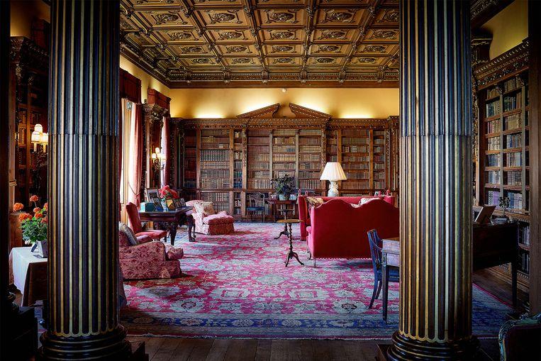 Er is ook een bibliotheek aanwezig in Highclere Castle.