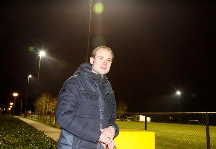 Thomas Leegwater op het sportcomplex van Clinge.