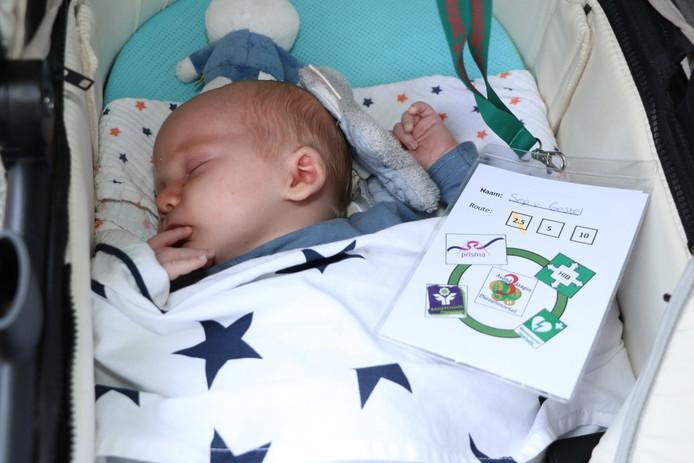 De allerjongste deelnemer Sep van Gestel is nog geen maand oud.