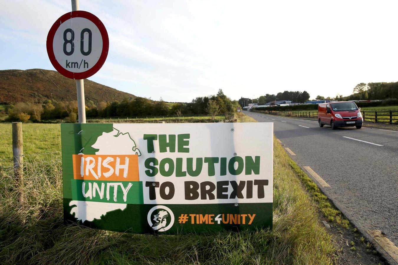 De kwestie van een grens op het Ierse eiland, tussen Ierland en Noord-Ierland, blijft een heikel punt.