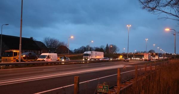 Verkeerschaos op A58 richting Eindhoven na ongeluk bij Moergestel.