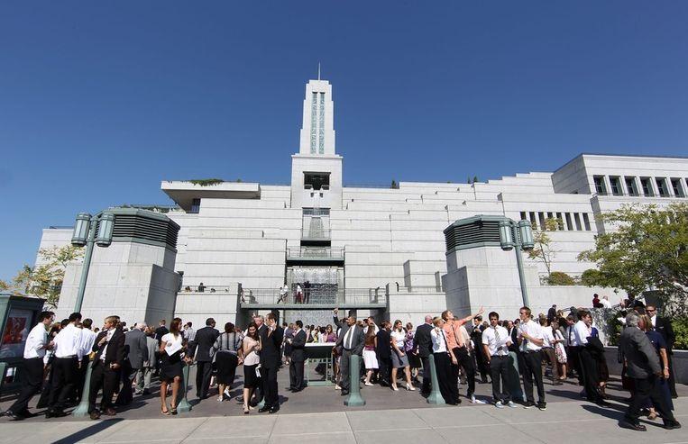 Conferentiecentrum van de mormonenkerk in Salt Lake City (Verenigde Staten). Beeld EPA