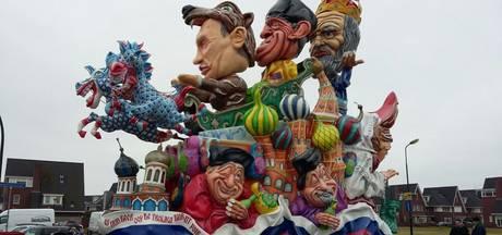 Live carnaval: wagens optochten worden opgebouwd, straten schoongeveegd
