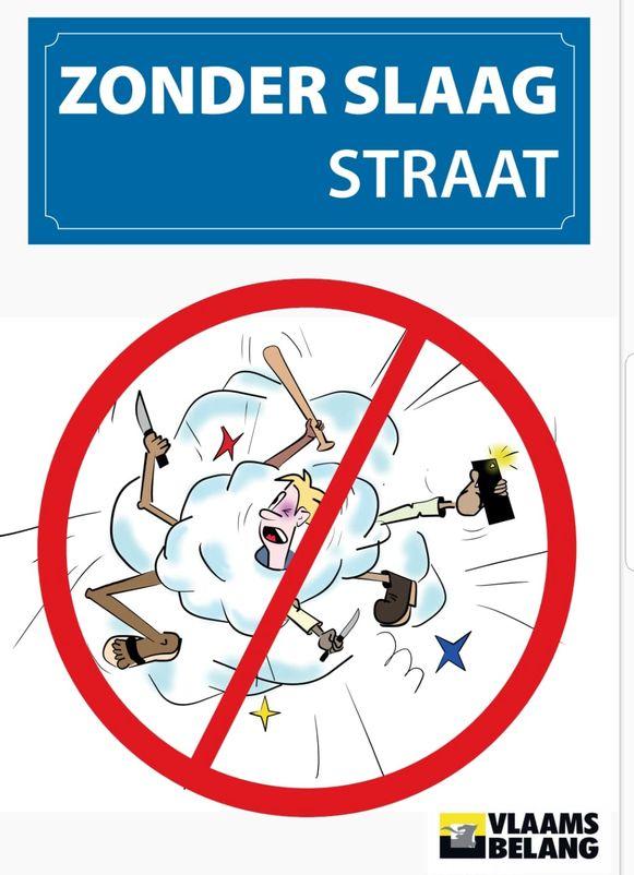 De Zonder Slaag Straat-affiche.