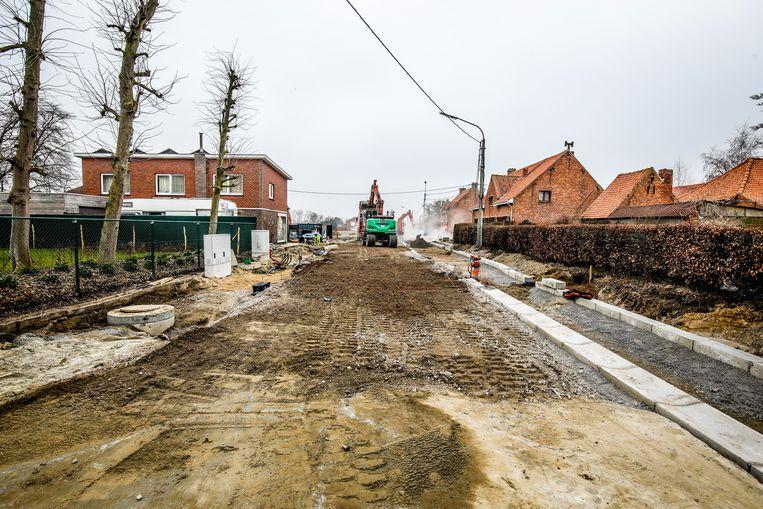 Werken kruispunt Stokstraat-Jonkershovestraat