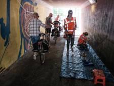 Liemerse studenten zorgen voor metamorfose fietstunnel Angerlo