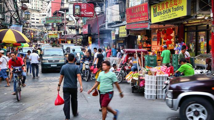 Straatbeeld van Manilla, de hoofdstad van de Filipijnen.
