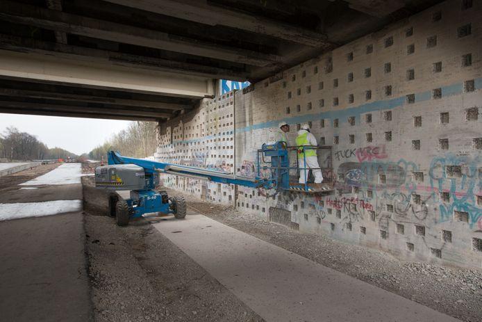 Werken aan de Torenlaan in Genk