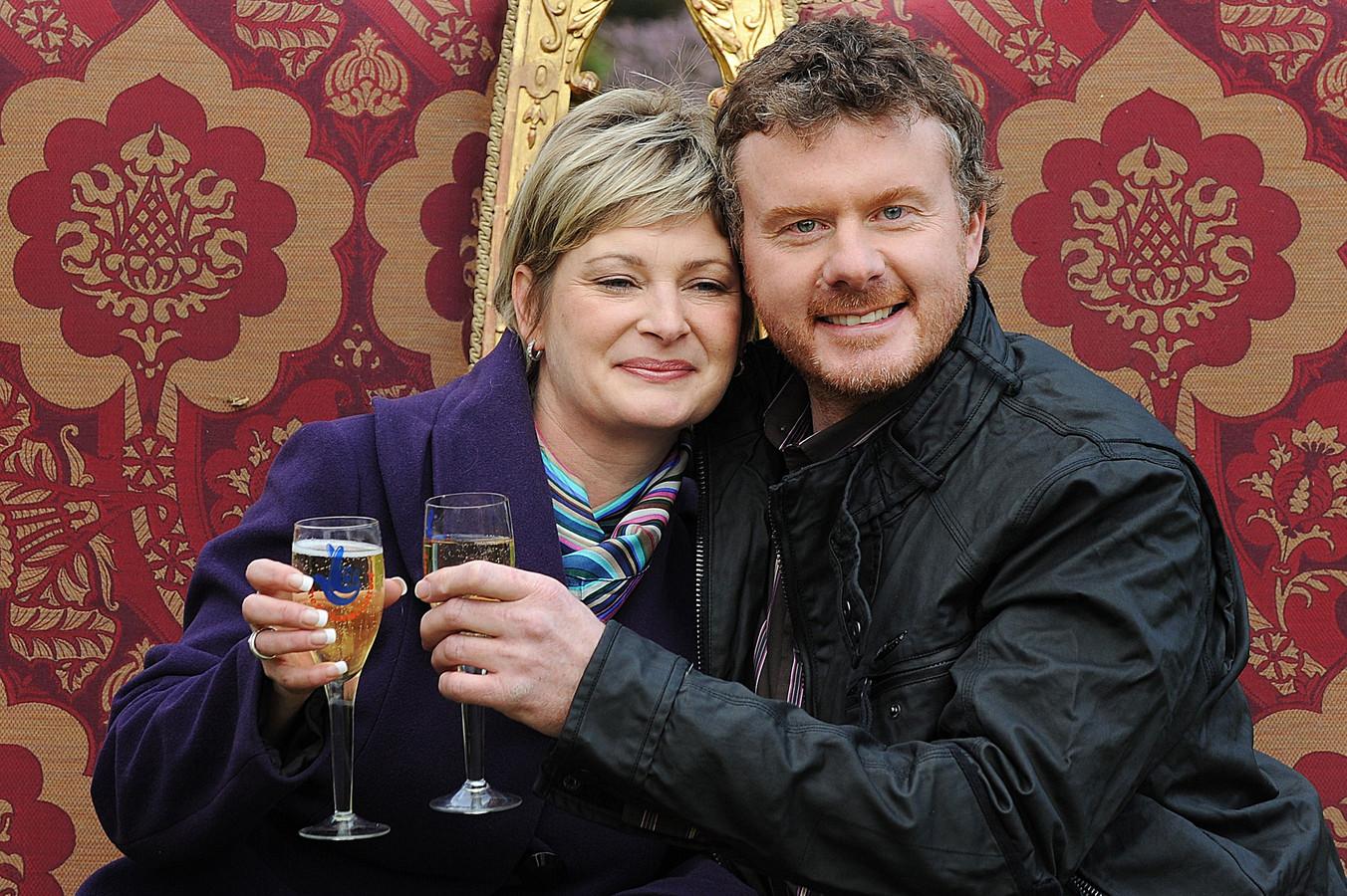 Nigel Page met zijn nieuwe partner Justine Laycock.