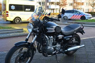 Motor onderuit op Kloosterplein in Breda