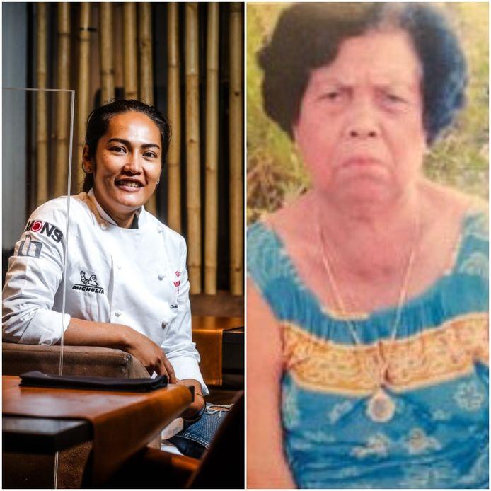 """Dokkoon Kapueak en haar oma, een inspiratiebron: """"Daar op het platteland heb ik alles van mijn oma geleerd."""""""