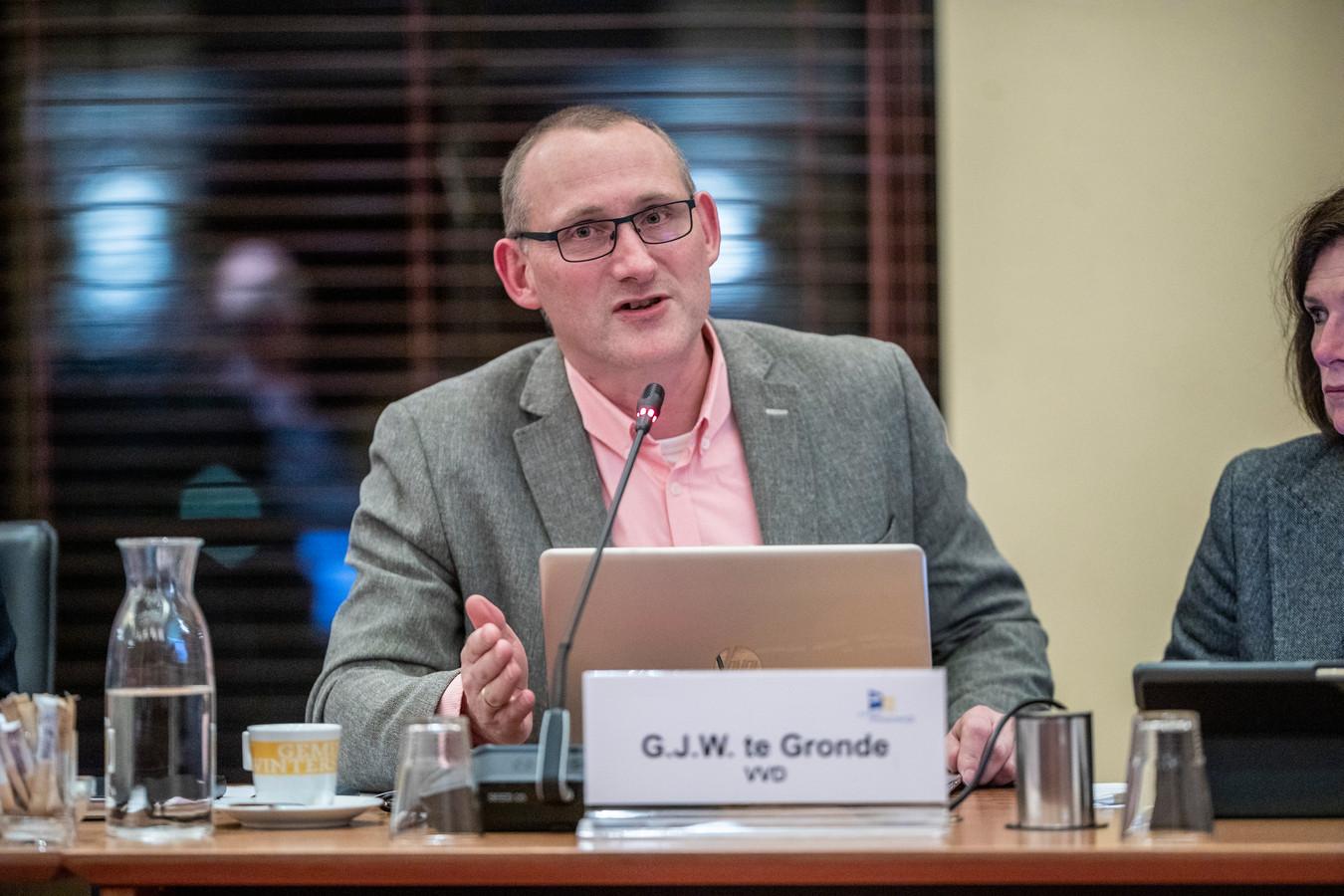 Gert Jan te Gronde (VDD): 'Laten we wat doen aan CO2 compensatie is het idee achter het bos.'
