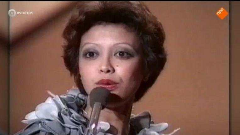 Sandra Reemer tijdens het eurovisiesongfestival Beeld Avrotros