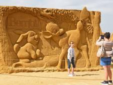 Zandsculpturen in Oostende gedijen goed bij de droogte