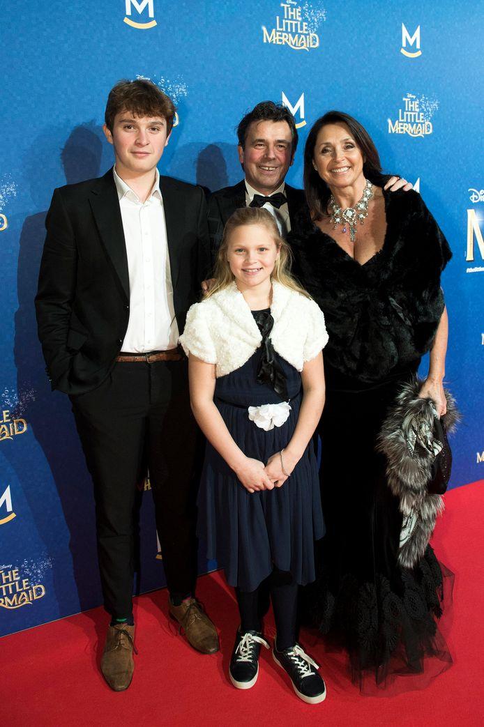 Wendy Van Wanten met gezin