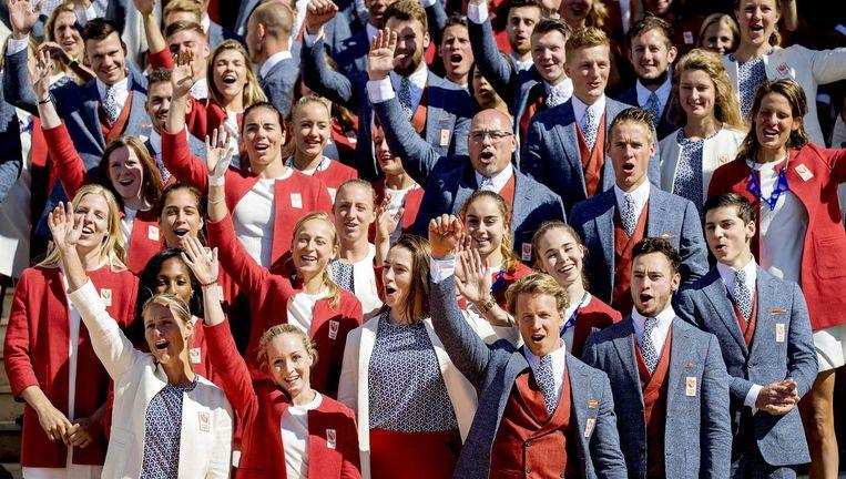 De Nederlandse ploeg presenteert zich een maand voor 'Rio'. Beeld null