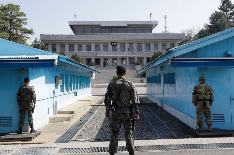 De gedemilitariseerde zone op de grens tussen Noord- en Zuid-Korea.