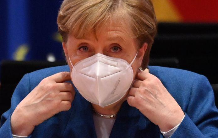 De Duitse bondskanselier Angela Merkel