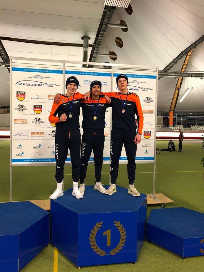 Joep Wennemars, Chris Fredriks en Stefan Westenbroek (vlnr).