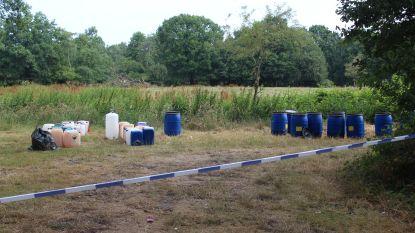Tientallen vaten met drugsafval in bossen van Lummen en Zonhoven