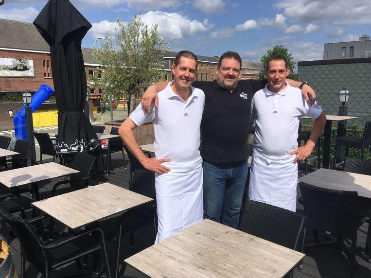 Karl en Johan Vandenbossche en Wim Verhulst van restaurant Karfoer.