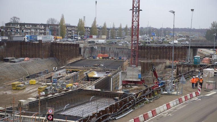 A2-tunnel in Maastricht in aanbouw Beeld null